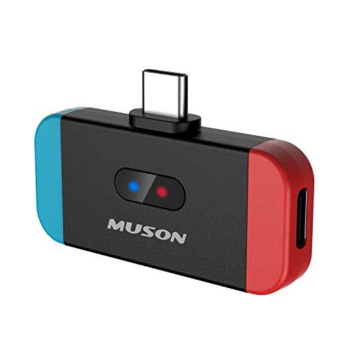 MUSON(ムソン) MK3 Bluetooth トランスミッター レシーバー 車載用 Switch スイッチ用 テレビ用 ワイヤレス化生活 aptX LL対応 低遅延 TYPE-Cポート 小型 任天堂 ブルートゥース 送信機 PS4 PC 車/テレビ/ワイヤレスイヤホン/ヘッドホンレシーバー 対応 TELEC認証済み
