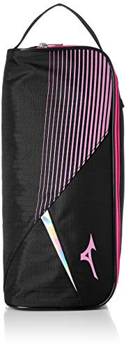 [ミズノ] シューズケース (現行モデル) ブラック×ピンク