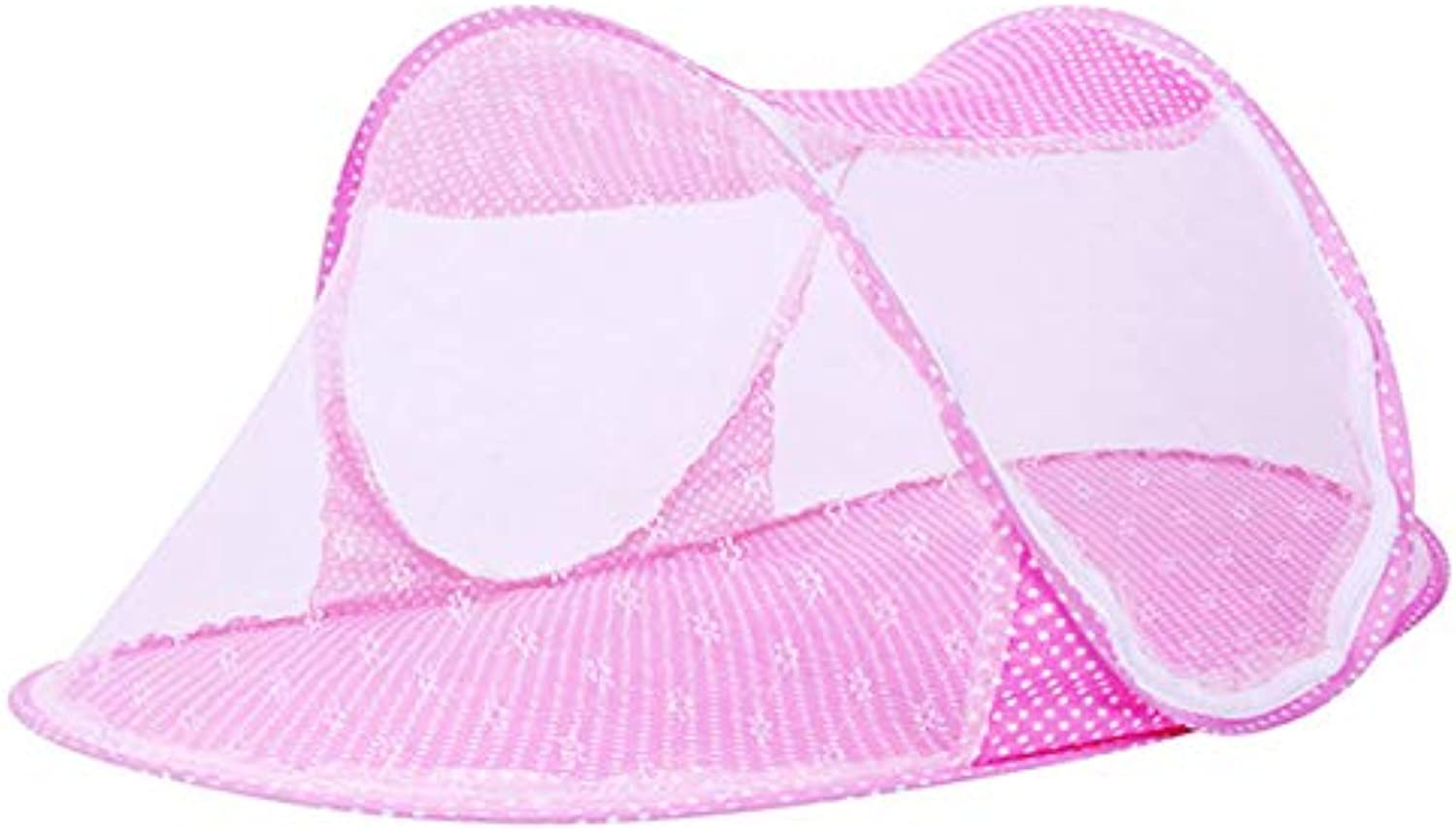 Portable Baby Crib Mosquito Net Tent MultiFunction Cradle Bed Infant Foldable Netting for Girls YYT333   Pink