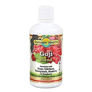 Dynamic Health Goji Juice Blend, with Maqui, Elderberry, Pomegranate, Raspberry & Blueberry, vegetarian, Gluten-free… |