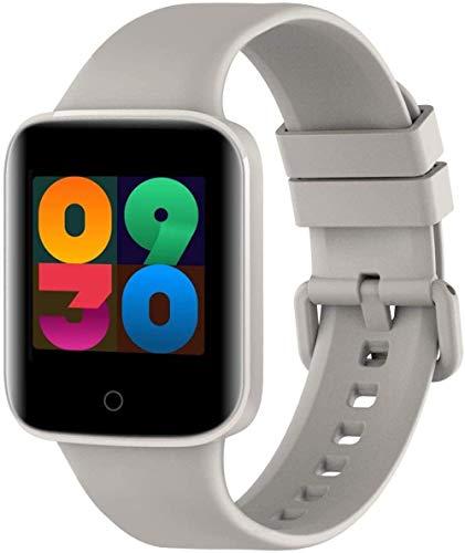 JIAJBG Reloj inteligente, pantalla a color de 1,3 pulgadas, recordatorio de llamadas SMS, sueño, multifuncional, pulsera deportiva, Android e iOS, uso diario, gris