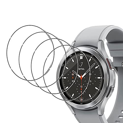 TUTUO [4 Stück] Panzerglas Schutzfolie Kompatibel mit Samsung Galaxy Watch 4 Classic 46mm, 9H Härte HD Klar Displayschutzfolie, Anti-Kratzen Blasenfrei Gehärtetes Glas Schutzfolie