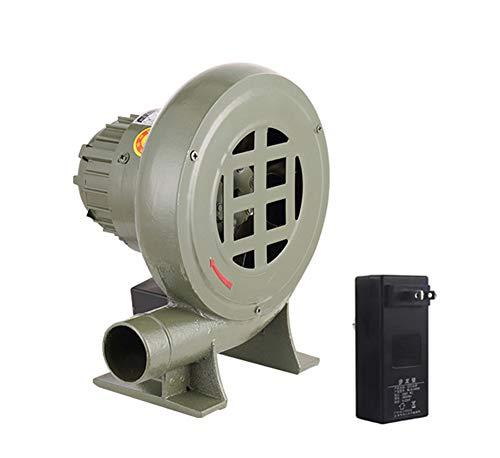 SY-Home Ventilador Centrífugo De Hierro Fundido, Ventilador De Barbacoa Eléctrico Motor De Cobre De Alta Eficiencia con Transformador De Regulación De Velocidad Multifunción,80W
