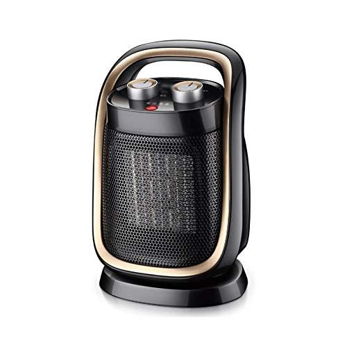 Bdesign 1500W Calentador de ventilador portátil 2S Calefacción rápida con temporizador Termostato ajustable Calentadores de espacio personal Ventilador con protección y protección contra sobrecalentam