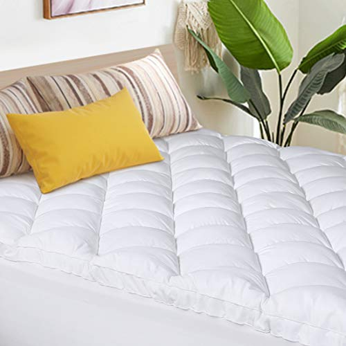 Abakan Mattress Topper Queen Extra Thick Mattress Pad Cover Super Soft Breathable Down Alternative Fill Pillow Top Bed Topper with 8-21Inch Deep Pocket