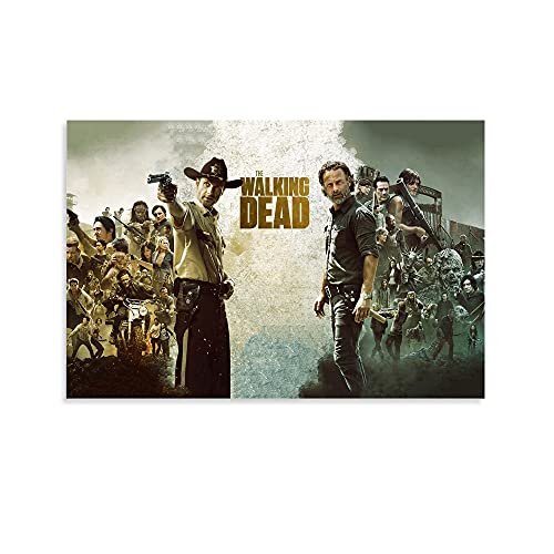 Hitecera Television Series Posters The Walking Dead Canvas Art Poster and Wall Art Picture Print Modern Family Bedroom Decor Posters 12x18inch(30x45cm)
