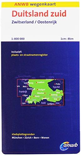Duitsland Zuid, Zwitserland, Oostenrijk: schaal 1:800.000