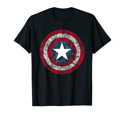 Marvel Captain America Avengers Shield Comic Graphic T-Shirt