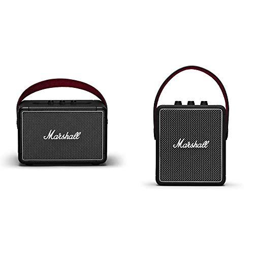 Marshall Kilburn II Portable Bluetooth Speaker - Black (1002634) Bundle with Marshall Stockwell II Portable Bluetooth Speaker - Black