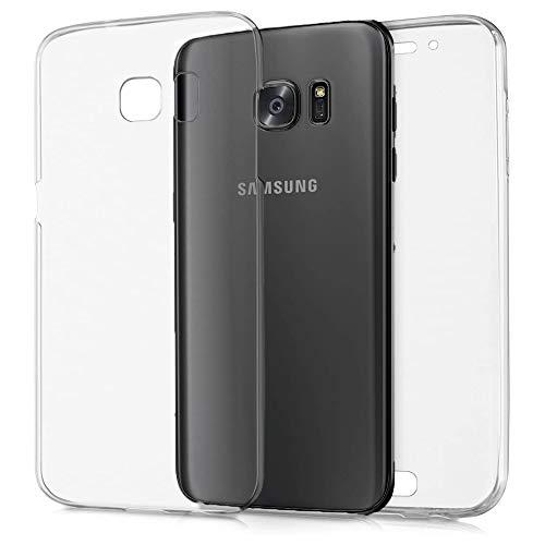 NewTop Cover per Samsung Galaxy J2 2018/J3 2016/J3 2017, Custodia Crystal Case in TPU Silicone Gel PC Protezione 360° Fronte Retro Completa (per J2 2018)