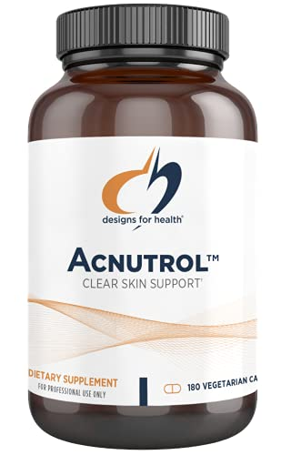 Designs for Health Acnutrol Clear Skin Support Pills - Pantothenic Acid + 50000 IU Vitamin A, Vitamins D + E, Carnitine + Minerals - Non-GMO + Soy Free Oral Supplement (180 Capsules)