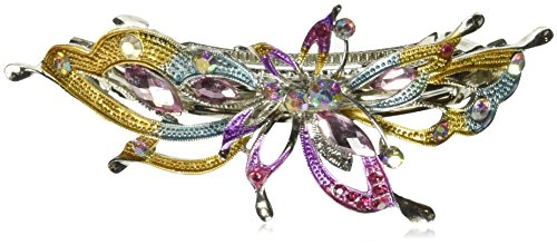 Caravan Butterfly Flying Over In A Rainbow Setting Embellished Using Rhinestone And Epoxy