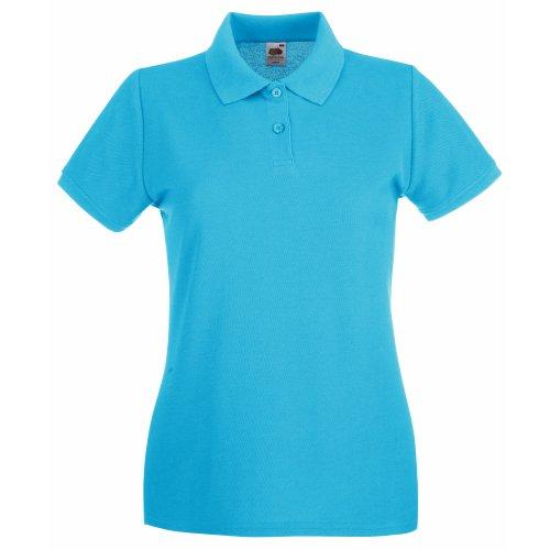 Fruit of the Loom Damen Lady-Fit Premium Poloshirt (L) (Lichtblau)