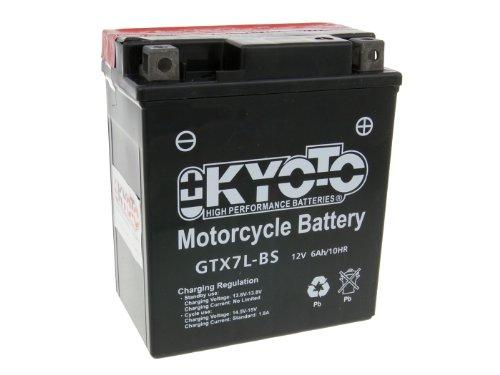 Batteria Kyoto 12 V gtx7l BS MF esente da manutenzione per Honda CB 600 F Hornet dal 2004