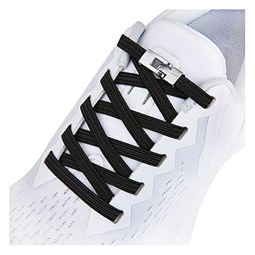 No Tie Shoelaces for Kids and Adults, Elastic No Tie Shoe Laces Black