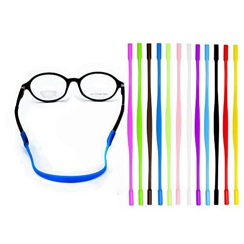 YALEX 12 Colors Anti-slip Glasses Strap Sports Glasses Strap Holder for Kids,Glasses chain 12 Pieces