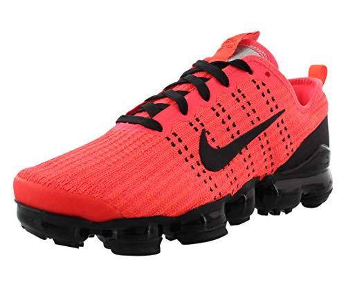 Nike Big Kids Air Vapormax Flyknit 3 Running Shoes (5.5, Flash Crimson/Black/Hyper Crimson)