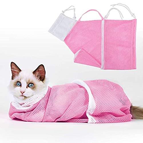 Jiaermei Katze Pflege Tasche,Polyester Mesh Katze Badetasche,Haustier Reinigung Fellpflege Tasche...