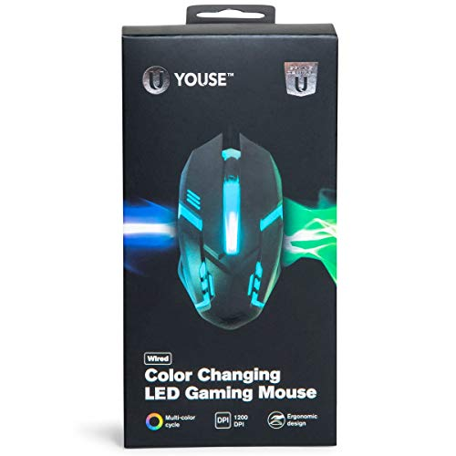 New U Youse Wired Color-Changing Led Gaming Mouse