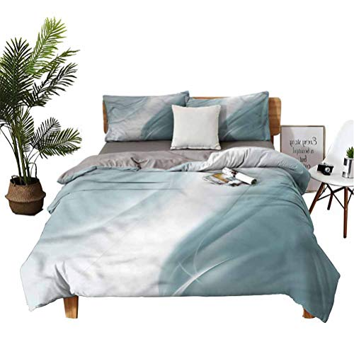 SUZM Grey Bedspread Set Monochromatic Abstract for Girls Bedroom Queen