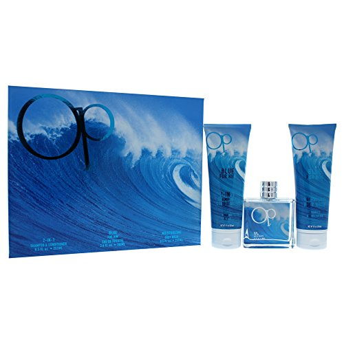Ocean Pacific Blue 3 Piece Gift Set for Him