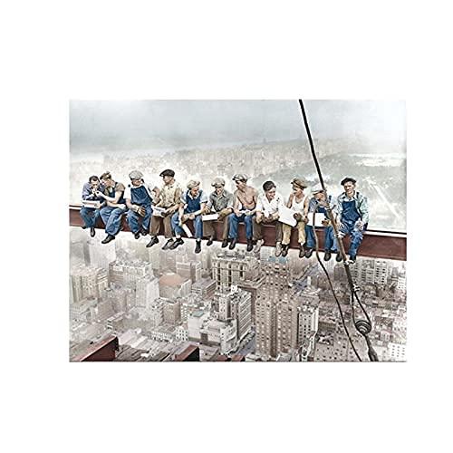 Figura de pintura The Empire State Building construcción de abrero, pósteres e...