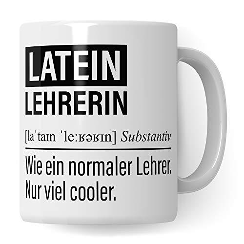 Lateinlehrerin Tasse, Geschenk für Latein Lehrerin, Kaffeetasse Geschenkidee Lehrerin, Kaffeebecher Lehramt Schule Lateinisch Unterricht Witz