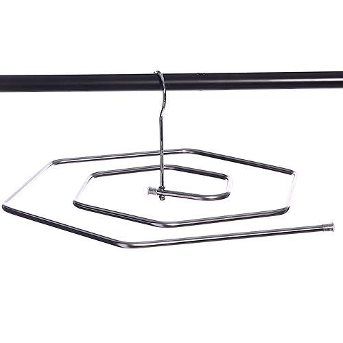 KUENTAI シーツ干しステンレスハンガー 3本セット タオルハンガー スパイラル うずまき 洗濯ハンガー 洗濯物 丈夫 業務用 バスタオル
