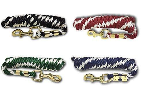 Führstrick für Pferd - Anbindestrick in verschiedenen stylischen Designs, Führleine, Anbindeseil Pony, Esel, Ziege (Grün)