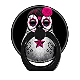LoveStand-Cell Phone Ring Holder 360 Degree Finger Ring Stand for Smartphone Tablet and Car Mount-Pink Day of The Dead Sugar Skull Penguin Black