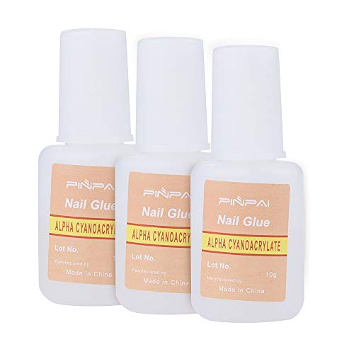 10g Nail Art Colle Avec Pinceau Sur Adhésif Fort Lady Girl Faux Acrylique Faux Pointe(10g Nail Art Glue With Brush On Strong Adhesive Lady Girl Fake Acrylic False Tip)
