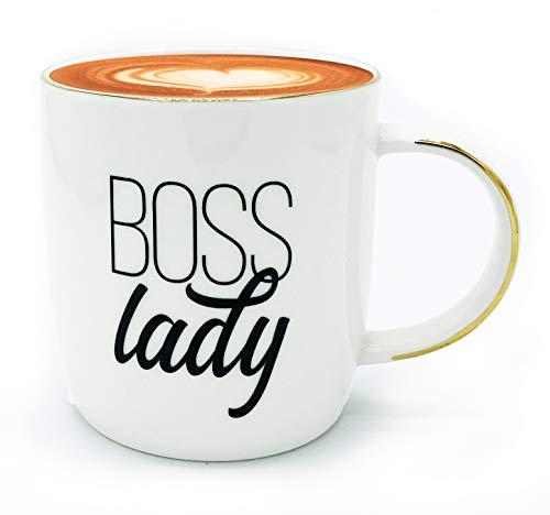 Gifffted Kaffeetasse/Tasse Boss Lady Geschenke für Chefin zu Weihnachten | Geburtstag | Weibliche Chef Geschenk | Mama | Freundin | Schwester | Boss | Muttertag | Frauen, 380ml