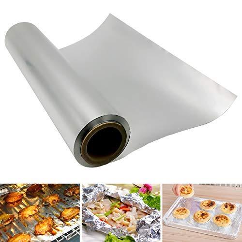 Papel de aluminio para cocina, rollo de papel de aluminio de 50 metros, lo suficientemente fuerte para cocinar alimentos, hornear y asar (anchura…