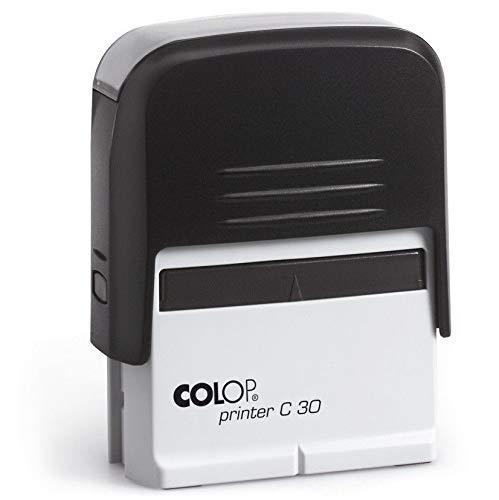 Print&Bind Center Stempel Selbstfärber COLOP Printer mit Wunschtext (COLOP Printer C30 4-5 Zeilen Abdruckgröße: 18 x 47 mm)
