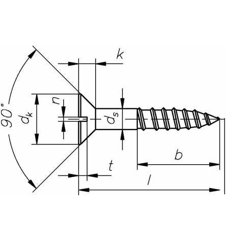 Reidl Holzschraube Senkkopf 3,5 x 10 mm DIN 97 Messing blank 1 St/ück