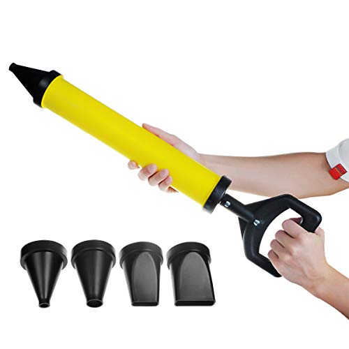 YXQ Grout Caulking Guns Hand Tool Pump with 4 Nozzle for Grouting Stone and Concrete Cement lime