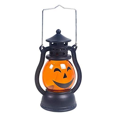 HAOSHUAI Luces de la Secuencia decoración de Halloween apoyos del Partido de Halloween de la Linterna de la Vendimia Que cuelga la decoración de la lámpara de luz portátil (Color : B)