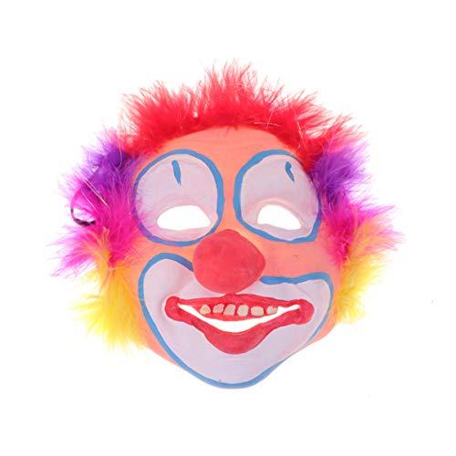 STOBOK máscara de payaso diseño de elementos divertidos de halloween mascarilla para favor de fiesta - rojo