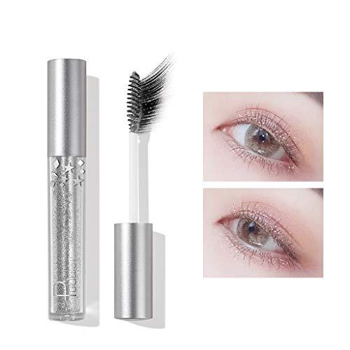 Dinglong Mascara Cils Paillettes 4D Silk Fiber Lash Mascara, Allonger et Épais, Longue Durée, Imperméable & Smudge-Proof