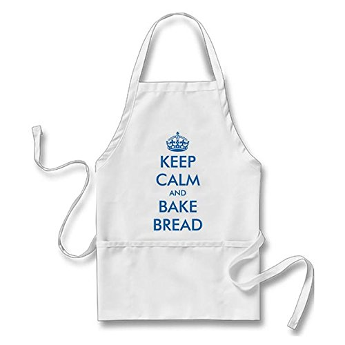 Starings Kitchen Apron Cute for Bakery | Keep Calm and Bake Bread Apron for Men Women with Pockets, White