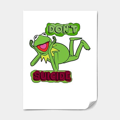 Updated Don T Kermit Suiiciide Unisex Print Poster Mens Print Poster Best Vintage Print Poster For Women Shirt Youth Handmade Movie Paper Posters Movie Paper Poste Poster Design 5088