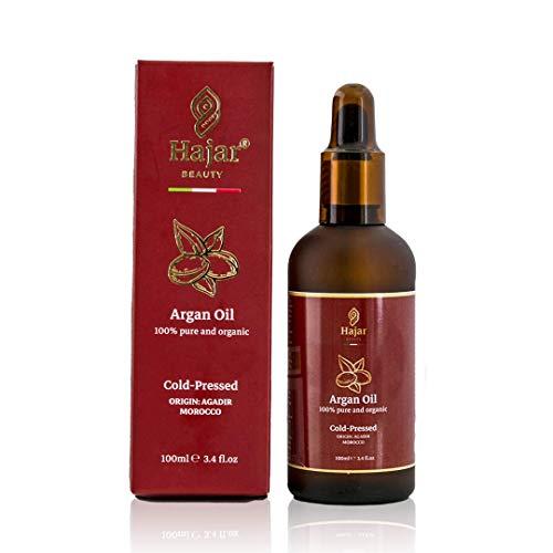 QUALITA E CONVENIENZA ,olio di argan puro al 100% biologico vegano ricco di vitamina E e omega 6 antiossidante adatto per capelli pelle e unghie,100 ml pressato a freddo