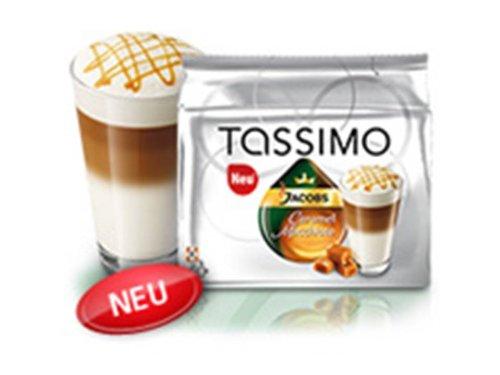 Jacobs Krönung Typ Latte Caramel Macchiato + der passend James Premium® drehbarer Kapselständer in Edelstahldesign