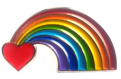 metal enamel pin badge love