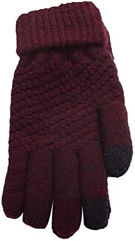 Hot Unisex Warm Winter Knitted Full Finger Gloves Mittens Girl Female Faux Cashmere Women's Gloves Touch Screen Men's Gloves T8 - (Color: 4)