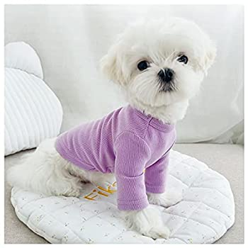 Loyanyy Dog Shirts for Small Dog Pure Cotton Sweatshirt for Puppy Kitten Cute Dog Clothes for Spring Summer Stretchy Cat Dog T-shirts Purple 18