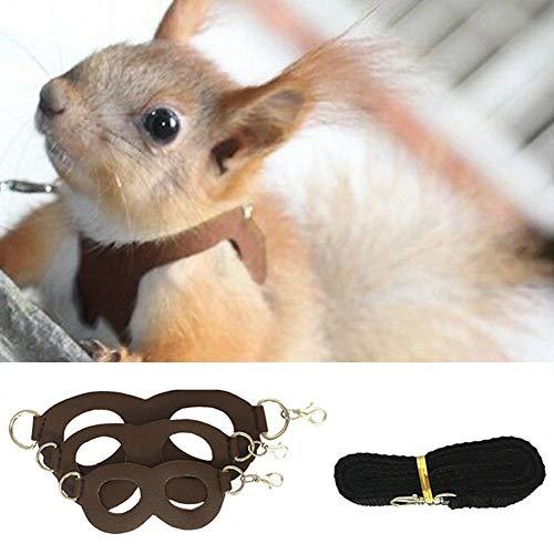 soundwinds Hamstergeschirr und Leine Verstellbare Weste mit kleinem Haustiergeschirr für Hamster-Kaninchen-Meerschweinchen-Ratten-Frettchen-Bleizubehör