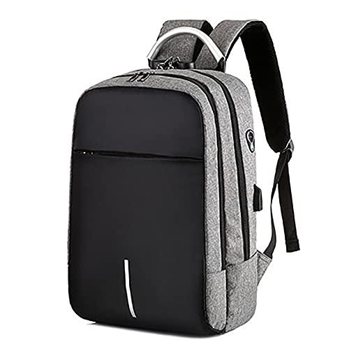 KMMDDE Mochila antirrobo con bloqueo de contraseña, mochila para computadora, mochila multifuncional, mochila de viaje impermeable, mochila escolar para estudiantes