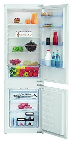 Réfrigérateur encastrable Beko BCHA275K2S - Réfrigérateur congélateur encastrable - 262 litres - Réfrigerateur/congel : Froid statique / No Frost - Dégivrage automatique - Classe A+ / Integrable
