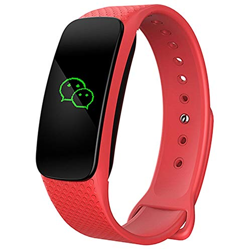 YUYLE Smartwatches Smart Armband Fitness Tracker Camera Waterdichte Fitness Tracker Smart Armband GPS Horloge, rood